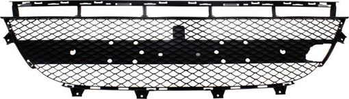 Center Bumper Grille Replacement Series-Black, Plastic, Replacement RM01530011