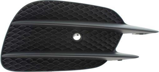 Mercedes Benz Passenger Side Bumper Grille-Textured Black, Plastic, Replacement RM01550003