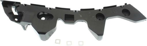 Mazda Rear, Driver Side Bumper Retainer-Black, Plastic, Replacement RM76330002