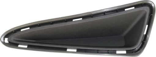 Toyota Front, Driver Side Bumper Filler-Textured Black, Replacement RT04050006