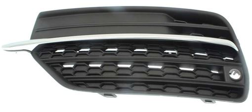 Volvo Driver Side Bumper Grille-Textured Black Shell w/ Chrome Insert, Plastic, Replacement RV01550006