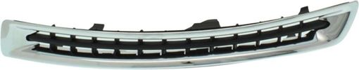 Driver Side Bumper Grille Replacement Series-Black and chrome, Plastic, Replacement RV01550008