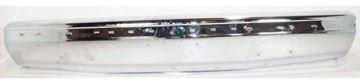 Bumper, Bronco/F-Series 87-91 Front Bumper, Chrome, W/ Impact Strip Holes, W/O Brackets, Replacement 7775-1