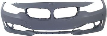 Picture of Replacement Bumper Cover, 3-Series 12-15 Front Bumper Cover, Prmd, W/O M Sport Line, W/O Ipas/Cam/Hlw Holes, W/ Pdc Holes, Modern/Luxury/Sport Line Mdls, Sdn/Wgn   Replacement REPB010363P