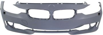 Picture of Replacement Bumper Cover, 3-Series 12-15 Front Bumper Cover, Prmd, W/O M Sport Line, Std Type, W/ Hlw Holes, W/O Pdc Holes, Sdn/Wgn   Replacement REPB010366P