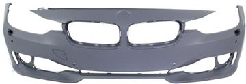 Picture of Replacement Bumper Cover, 3-Series 12-15 Front Bumper Cover, Prmd, W/O M Sport Line, Std Type, W/ Hlw/Pdc Holes, W/O Ipas/Cam, Sdn/Wgn   Replacement REPB010367P