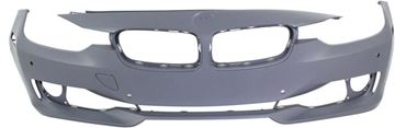 Picture of Replacement Bumper Cover, 3-Series 12-15 Front Bumper Cover, Prmd, W/O M Sport Line, Std Type, W/O Hlw Holes/Ipas, W/ Pdc Holes/Cam, Sdn/Wgn   Replacement REPB010371P