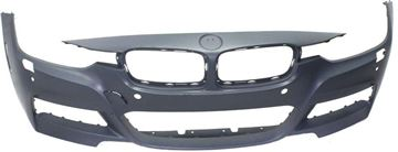 Picture of Replacement Bumper Cover, 3-Series 13-18 Front Bumper Cover, Prmd, W/ M Sport Line, W/ Hlw/Pdc Snsr Holes/Cam, W/O Ipas, Sdn/Wgn   Replacement REPB010394P