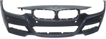 Picture of Replacement Bumper Cover, 3-Series 13-18 Front Bumper Cover, Prmd, W/ M Sport Line, W/O Hlw Holes/Ipas, W/ Pdc Snsr Holes/Cam, Sdn/Wgn   Replacement REPB010399P