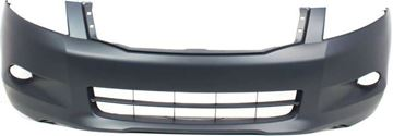 Picture of Replacement Bumper Cover, Accord 08-10 Front Bumper Cover, Primed, W/ Fog Light Holes, 6 Cyl, Sedan   Replacement REPH010303P