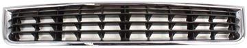 Audi Center Bumper Grille-Chrome Shell w/ Black Insert, Plastic, Replacement REPA015302