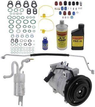 Replacement AC Compressor, Pt Cruiser 2005 A/C Compressor Kit, Non-Turbo, Denso 10S15c Type | Replacement REPCV191126