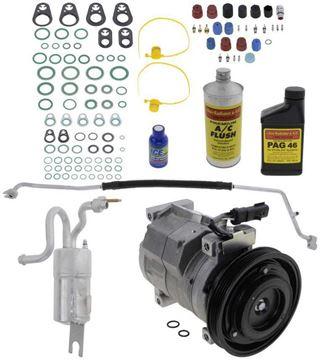 Replacement AC Compressor, Pt Cruiser 2005 A/C Compressor Kit, Non-Turbo, Denso 10S17c Type | Replacement REPCV191127