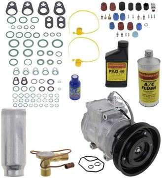 AC Compressor, 4Runner 89-90 / Camry 87-91 A/C Compressor Kit, V6, 5-Groove Pulley | Replacement REPT191132
