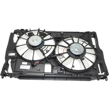 Picture of Replacement Center Cooling Fan Assembly Replacement-Dual fan, Radiator Fan | Replacement REPT160937
