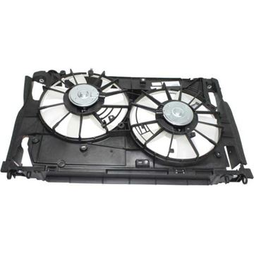 Picture of Replacement Center Cooling Fan Assembly Replacement-Dual fan, Radiator Fan | Replacement REPT160938