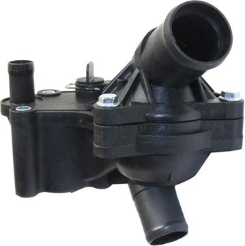 Mercury, Ford Upper And Lower Thermostat Housing-Black, Plastic | Replacement REPF319605