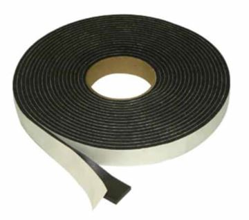 "Picture of 0.5"" Foam Tape Seal on Paper for Truck Cap, Topper, 30' Roll 