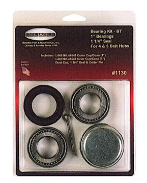 """Picture of Trailer Hub Complete Bearing Kit, 1"""" Bearings 