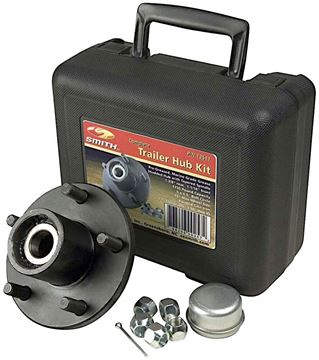 "5 Bolt Trailer Hub Kit for 1"" Spindle, 1250 lbs Capacity, CE Smith 13210"
