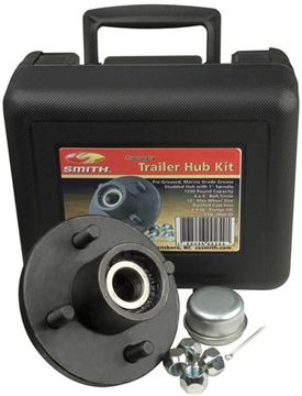 "4 Bolt Trailer Hub Kit for 1-1/16"" Spindle, 1350 lbs Capacity, CE Smith 13109"