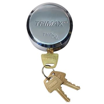 "Solid Steel ""Hockey Puck"" Internal Shackle Trailer Lock, Trimax THPXL"