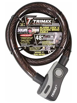 Alarmed Lock & Quadra-Braid Cable 48'' x 25mm, Trimax TAL2548