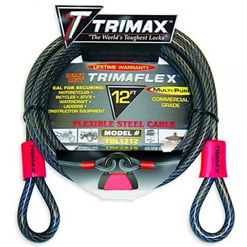Trimaflex Dual Looped Multi-Use Cable 12' x 12mm, Trimax TDL1212