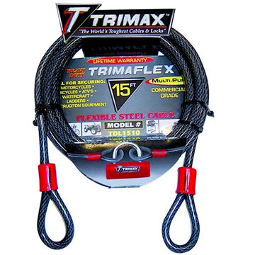Trimaflex Dual Looped Multi-Use Cable 15' x 10mm, Trimax TDL1510
