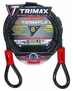 Trimaflex Dual Looped Multi-Use Cable 8' x 15mm, Trimax TDL815