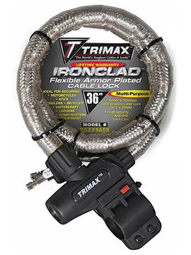 "Ironclad Flexible Armor Plated Cable Lock 36"" x 22mm, Trimax TG2236SX"