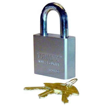 "Hardened 50mm Solid Steel Square Padlock, 1.25"" x 10mm Shackle, Trimax TPL175S"