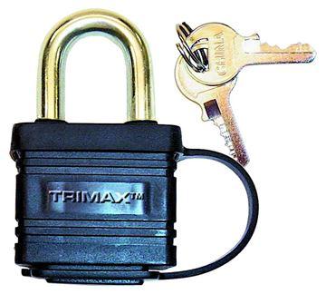Weatherproof Solid Steel Laminated Padlock, Dual Locking, Trimax TPW1125