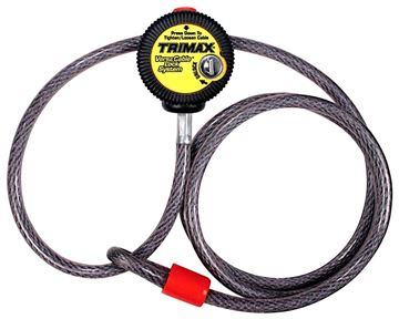 Multi-Use Versa Cable Lock, 6 ft Long x 10mm Cable, Trimax VMAX6