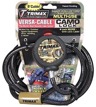 Multi-Use Versa Camo Cable Lock, 9 ft x 10mm Cable, Trimax VMAX9C