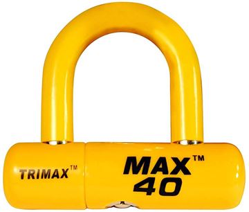 Multi-Purpose Disc U-Lock, Yellow Sleeve over Chrome, Trimax MAX40YL