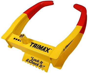 Deluxe Universal Chock Lock Dual Action Wheel Lock, Trimax TCL75