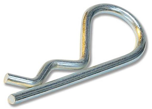 """Steel Cotter Hair Pin 0.1"""" x 1.6"""" 10 Pack, Pivot Point HAIR-5"""