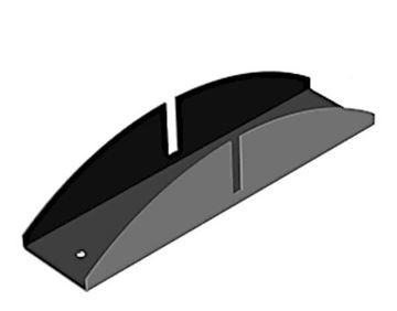"Stainless Steel Base for 3/8"" Acrylic Panel, CRL PSBASE38"