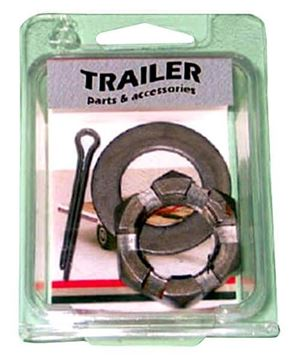 "Trailer Axle Spindle Nut Kit with ""D"" Washer, Reliable 230011"