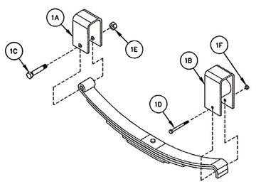 "Single Axle Hanger Kit Heavy Duty 2"" Spring, Reliable HK1-5201"