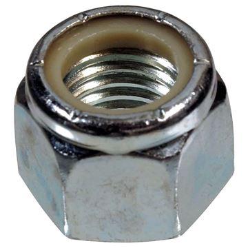 "Nylon Insert U-Bolt Lock Nut 3/8"", 16 thread, Tie Down Eng 10627"