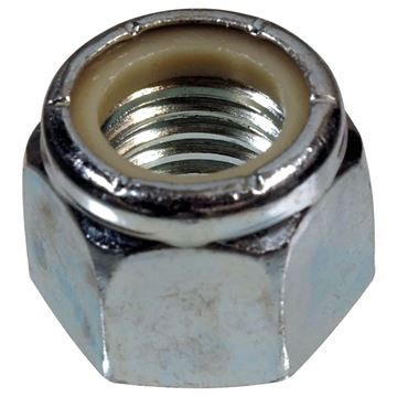 "Nylon Insert U-Bolt Lock Nut 1/2"",  20 Thread, Reliable N-101"