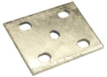 "Axle Tie Plate Flat Galvanized for 1/2"" U-Bolt, CE Smith 20044GA"