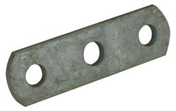 Axle Tie Plate Flat Galvanized, Three Hole, CE Smith 20024G