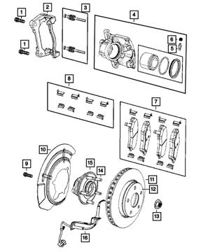 Disc Brake Caliper Assembly Lh