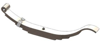 "Axle Slipper Spring, 1240 lbs, 5 Leaf, 25"" Length, UCF UNA-180"