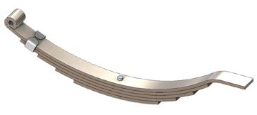 "Axle Slipper Spring, 2300 lbs, 5 Leaf, 25"" Length, UCF UNA-207"