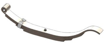 "Axle Slipper Spring, 900 lbs, 4 Leaf, 25"" Length, UCF UNA-179"