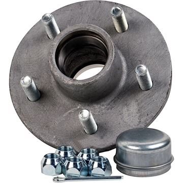 "5 Bolt Trailer Hub Kit, Galvanized, 1"" Spindle, 1250 lbs, CE Smith 13215"